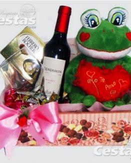 Cestas Chocolates com Vinho